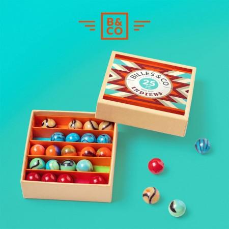 Canicas Nativos Americanos - Mini Caja