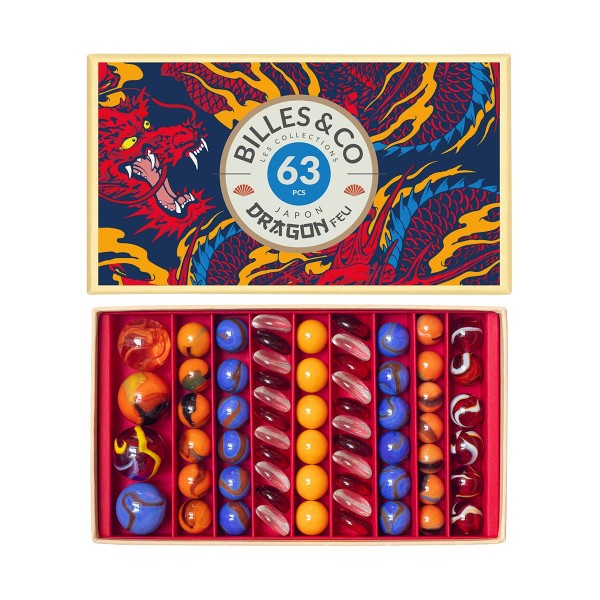 Fire Dragons Marbles -  Box