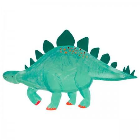 Stegosaurus  dinosaurs Platters - 4u.