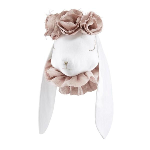 Linen Rabbit - Powder Flowers