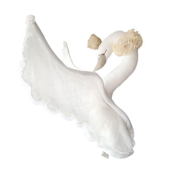 Linen Swan Lace - Ecru