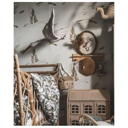 Linen Stork - Graphite