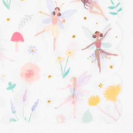 Large Fairy Napkins - 16u.
