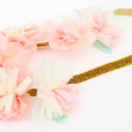 Floral Party Crown - 6un.