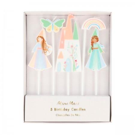 Princess Cake Candles - 5un