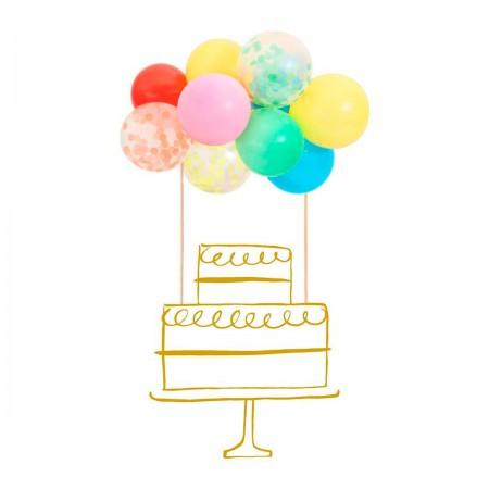 Globos Cake Topcake - 1u.