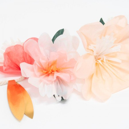 Guirnalda de Flores Rosas - 3.4m