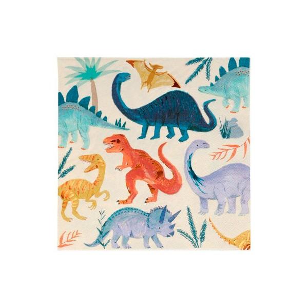 Servilletas de Dinosaurios Grandes - 16u.