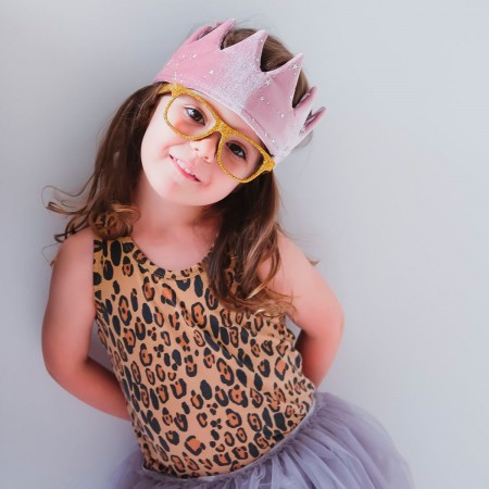 Pink Fabric Reversible Crown
