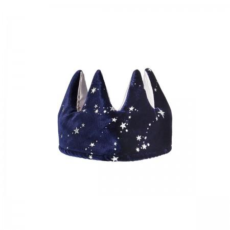 Navy Fabric Reversible Crown
