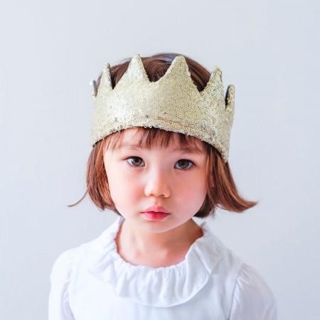 Sequin Crown Gold