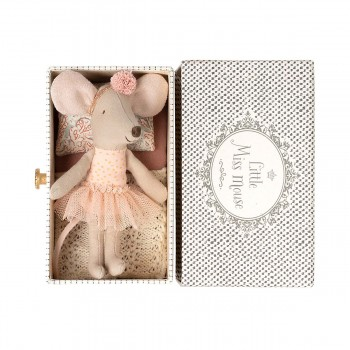 Dance Mouse in daybed - Little Sister (11cm)
