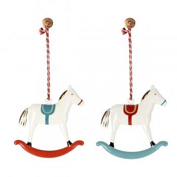 Rocking Horse Ornament - Metal