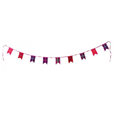 Purple flags garland