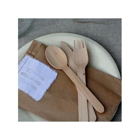 Tenedor bambú