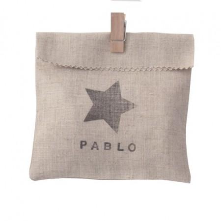 Bolsa de tela personalizada con pinza