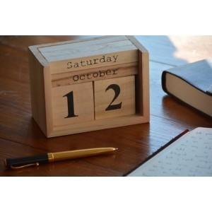 Calendario perpétuo bloques de madera