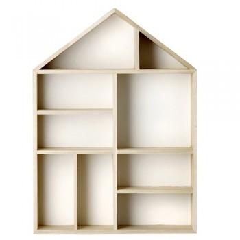 Casa expositora de madera
