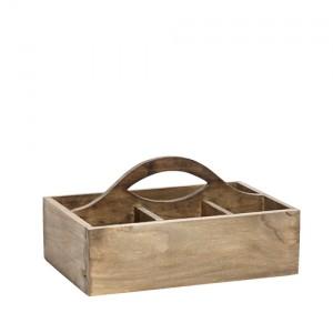 Caja con asa de madera