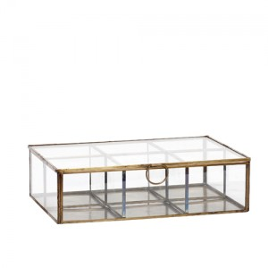 Caja clasificadora de cristal