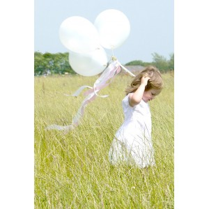 Globos blanco brillante - 6u.