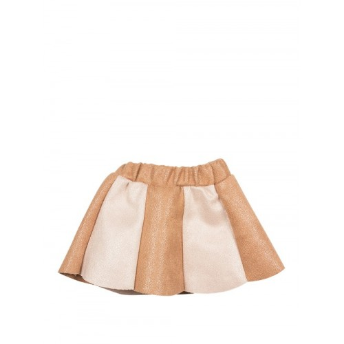 Conjunto de falda y blusa de ante (Mega