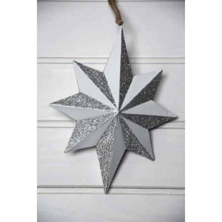 Estrella blanca decorativa