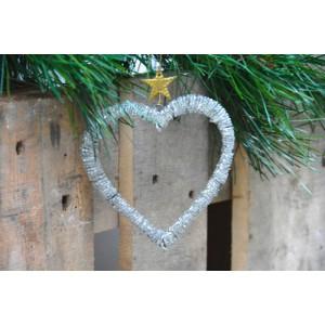 Corazón plata 14 cm