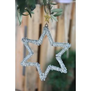 Estrella plata 17 cm