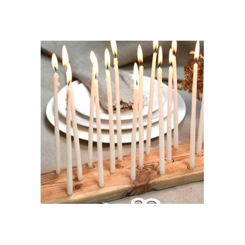 Vela blanca cumpleaños