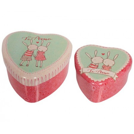Tin Heart Box 2u.
