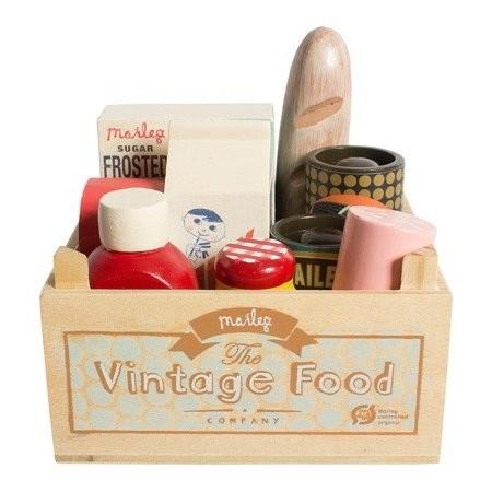 Groceries vintage box