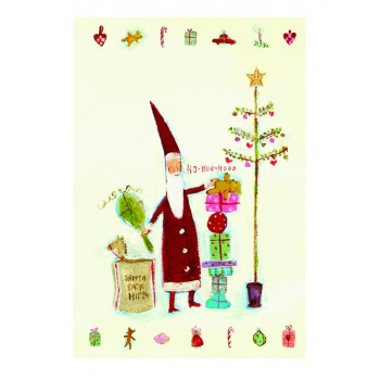 Santa Claus double postcard