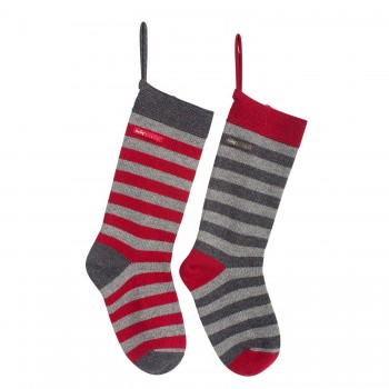 Christmas  sock, grey