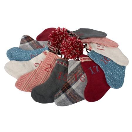 Calendario de Adviento guirnalda calcetines