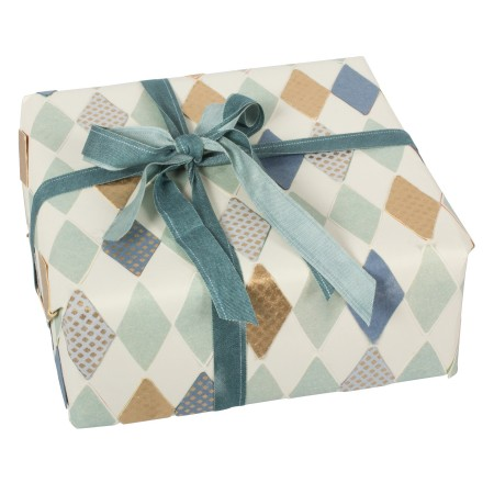 Wrapping paper - harlekin blue