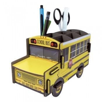 Schoolbus pencil holder