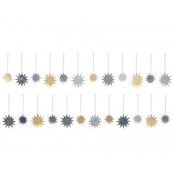 Estrellas decoración de papel. (pack de 25 unid.)