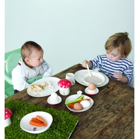 Blue melamine kids tableware