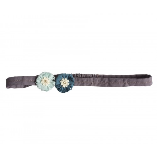 Hair band, mini flowers, Aqua
