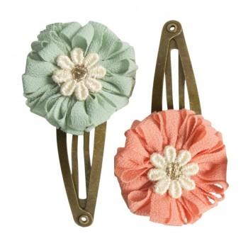 Horquilla clips mini flores (2u.)