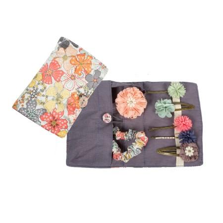 Diadema cinta para pelo, Flores rosa-verde