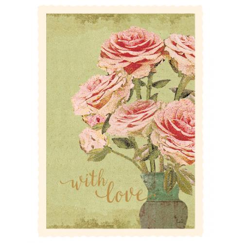 Flower wilh love card
