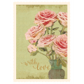Flower wilh love card