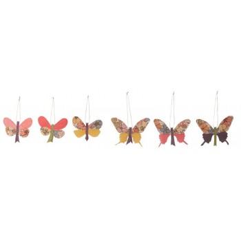 Mariposa primavera decoración tela