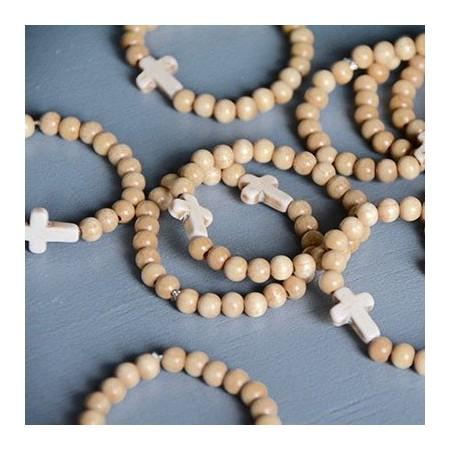 Cross and beads bracelet
