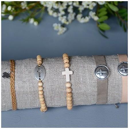 Braided cross bracelet
