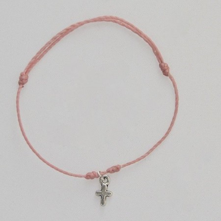 Hanging small cross bracelet