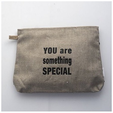 Sponge bag-linen natural You are something special