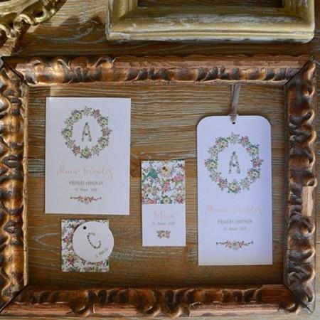 Recordatorio flores cinta